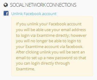unlinking facebook account