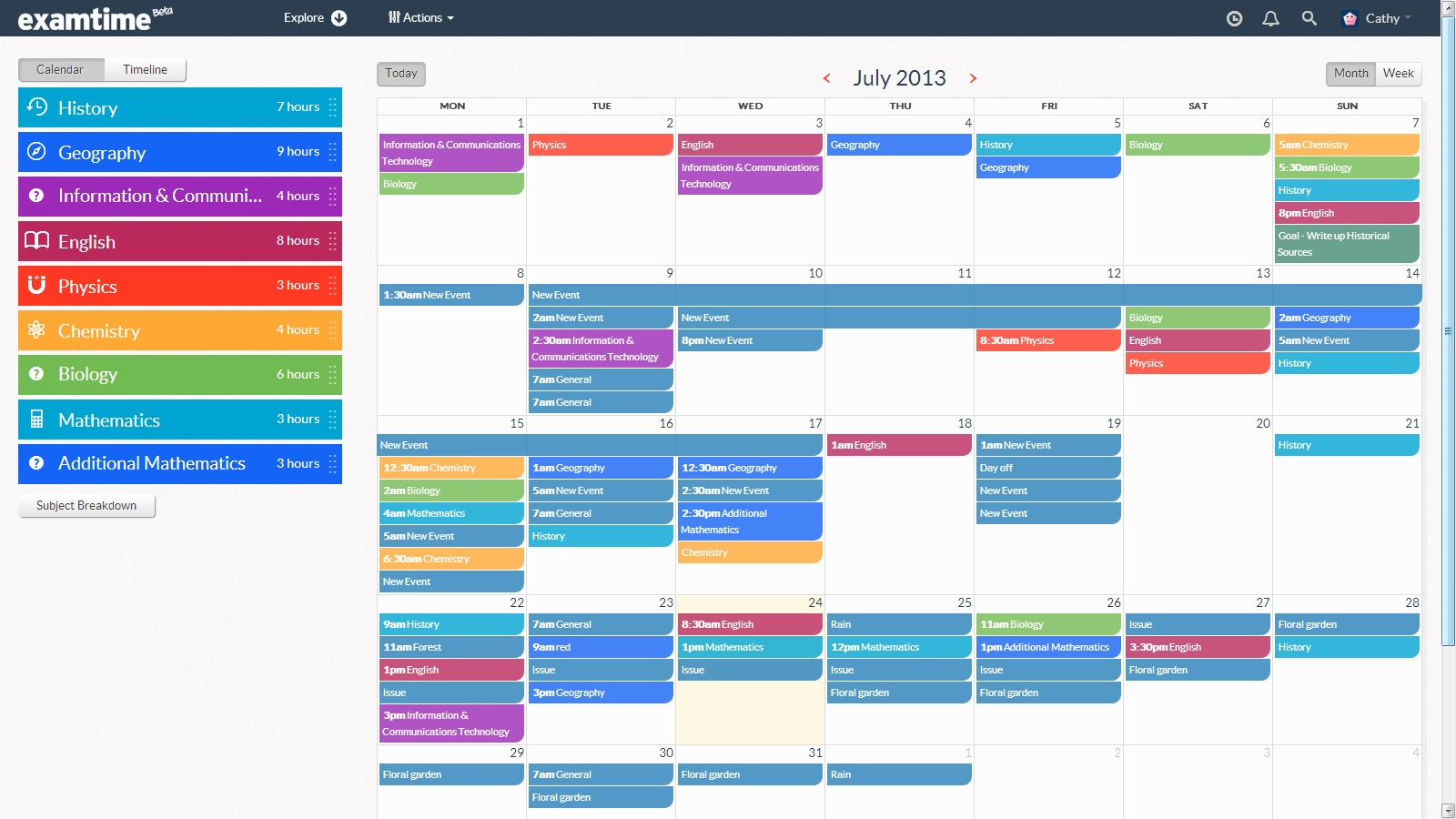 Create a revision timetable with examtime 39 s new study tool for Time design planner